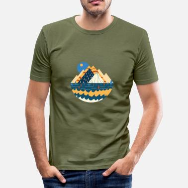 The Mountains Are Calling Mountain mountains gift - Men's Slim Fit T-Shirt