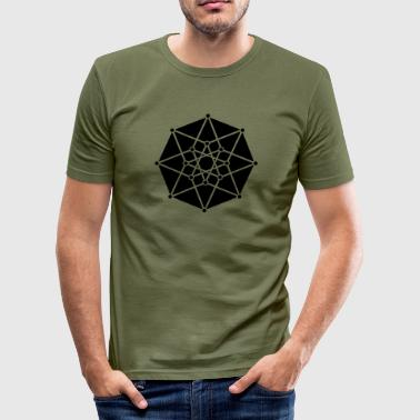 TESSERACT, Hypercube 4D, c, Symbol - Dimensional Shift, Metatrons Cube, Ishtar Star - Herre Slim Fit T-Shirt