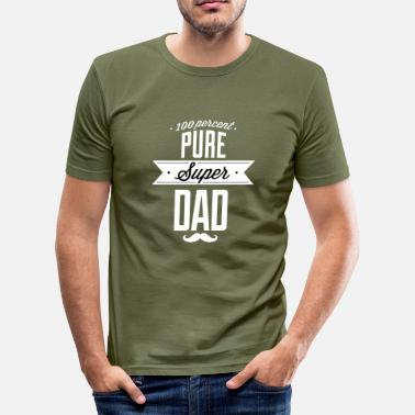 Toekomstige Pure super papa wit - slim fit T-shirt