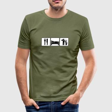 Eat Sleep Serve  - Männer Slim Fit T-Shirt