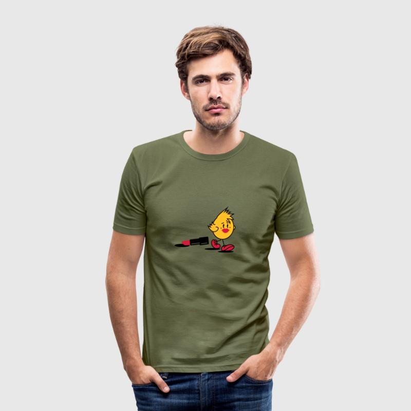 A small chick with lipstick - Men's Slim Fit T-Shirt