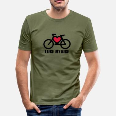 Bike Stencil i ike my bike - Men's Slim Fit T-Shirt