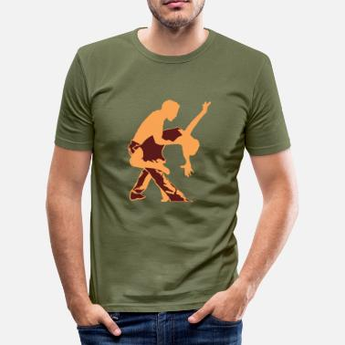 Spanish Salsa Salsa Dance - Men's Slim Fit T-Shirt