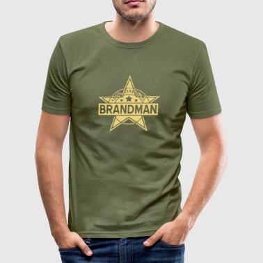brandman - Slim Fit T-shirt herr