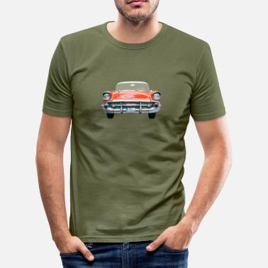 Chevrolet Chevy Bel Air Front - Männer Slim Fit T-Shirt