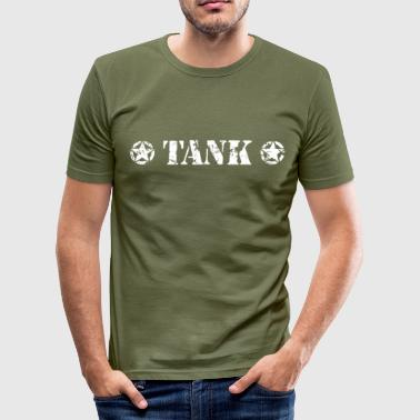 TANK White - Men's Slim Fit T-Shirt