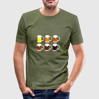 Beer in all colours - T-shirt près du corps Homme