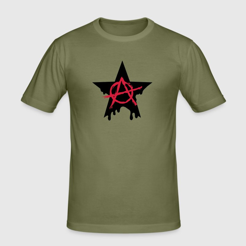 Anarchy star chaos symbol rebel revolution punk - Men's Slim Fit T-Shirt