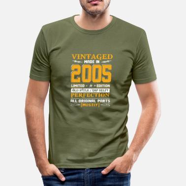 Husband Vintaged Made In 2005 Limited Editon - Men's Slim Fit T-Shirt