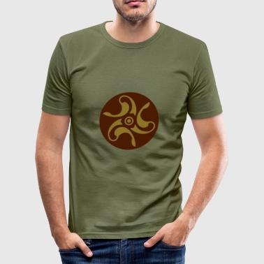 Anglo Saxon Circle 3 - Men's Slim Fit T-Shirt