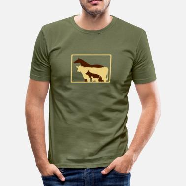 Veterinary Surgeon jobs_veterinary_surgeon - Men's Slim Fit T-Shirt