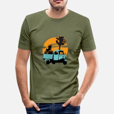 Dreirad Dreirad sunset - Männer Slim Fit T-Shirt