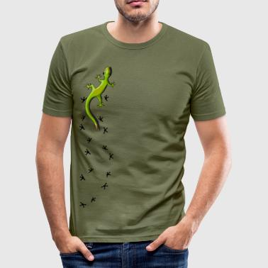 Gecko with tracks - slim fit T-shirt
