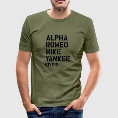 Special Alpha Romeo Mike Yankee - over - Men's Slim Fit T-Shirt
