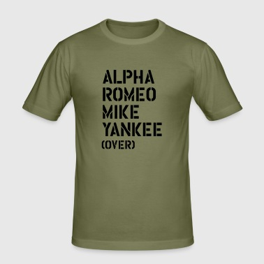 Alpha Romeo Mike Yankee - over - Men's Slim Fit T-Shirt