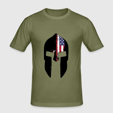 spartan helmet american - Men's Slim Fit T-Shirt