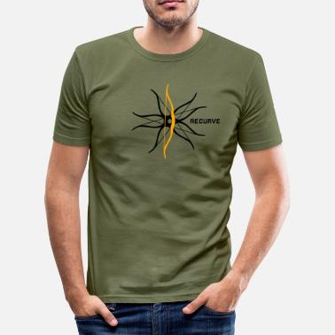 Recurve Recurve Eccentric - Men's Slim Fit T-Shirt