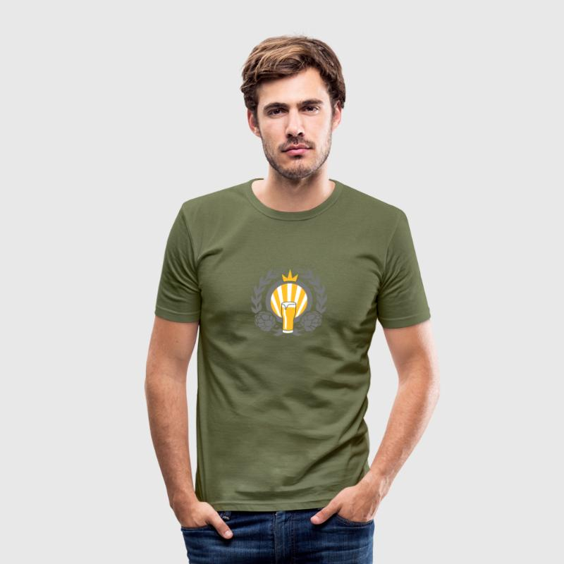 Bier Bier King v3 - Slim Fit T-shirt herr