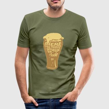bier|biere mousse (2c) Tee shirts - Men's Slim Fit T-Shirt