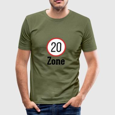 Zone 20 zone - Men's Slim Fit T-Shirt