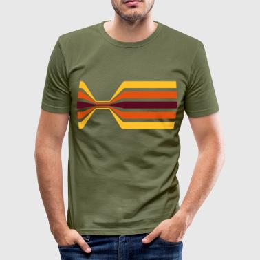Retro stripe with narrowing  - Men's Slim Fit T-Shirt