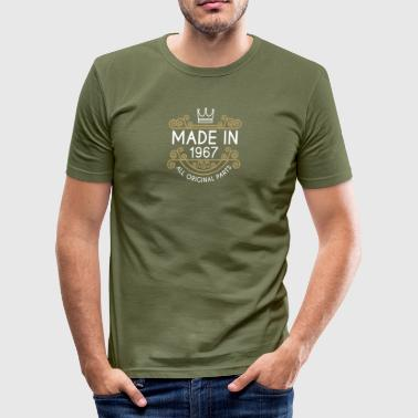 Made In 1967 All Original Parts - Men's Slim Fit T-Shirt