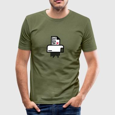 vote shredder - Männer Slim Fit T-Shirt