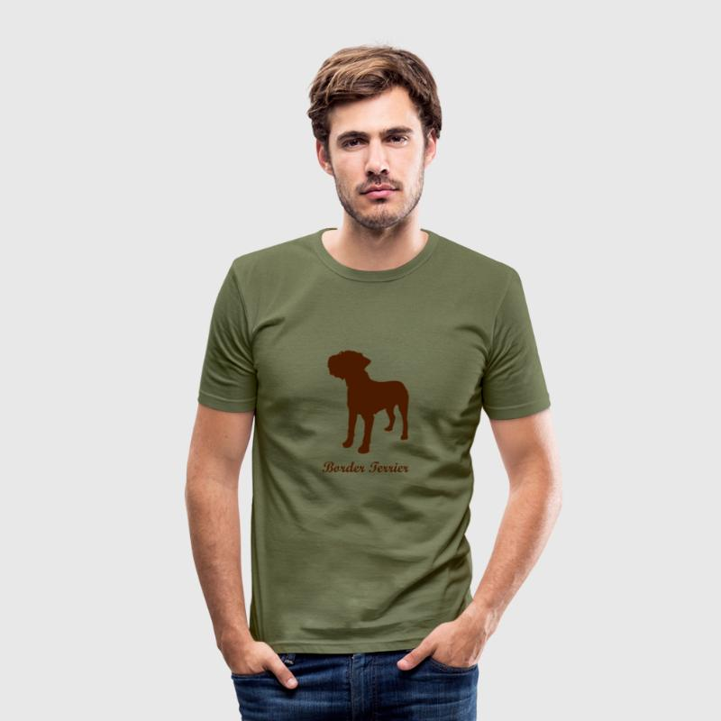 Border Terrier - Dog - Men's Slim Fit T-Shirt