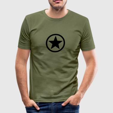 Army Fight Detroit Star circle Anarchy Master Black Rebel Revolution - Men's Slim Fit T-Shirt