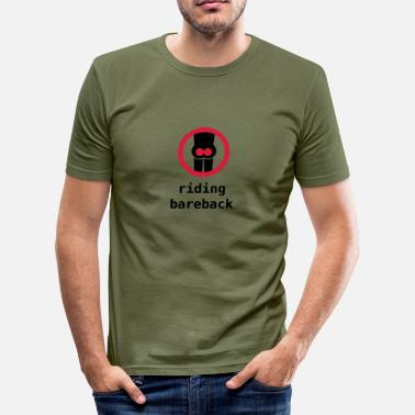 Comic riding bareback - T-shirt près du corps Homme