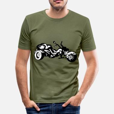 Motor Race Trike,Motorrad Chopper,Motor,Motocross,Motor race - Männer Slim Fit T-Shirt