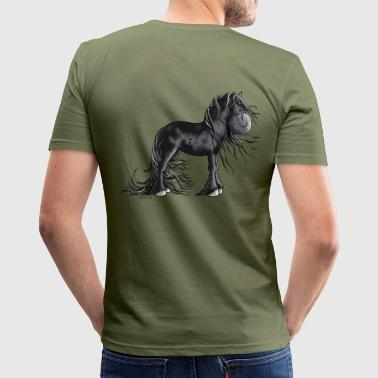 Friesian Sweet Friesian Horse - Men's Slim Fit T-Shirt