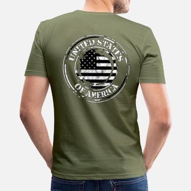United States United States black and white.png - T-shirt près du corps Homme