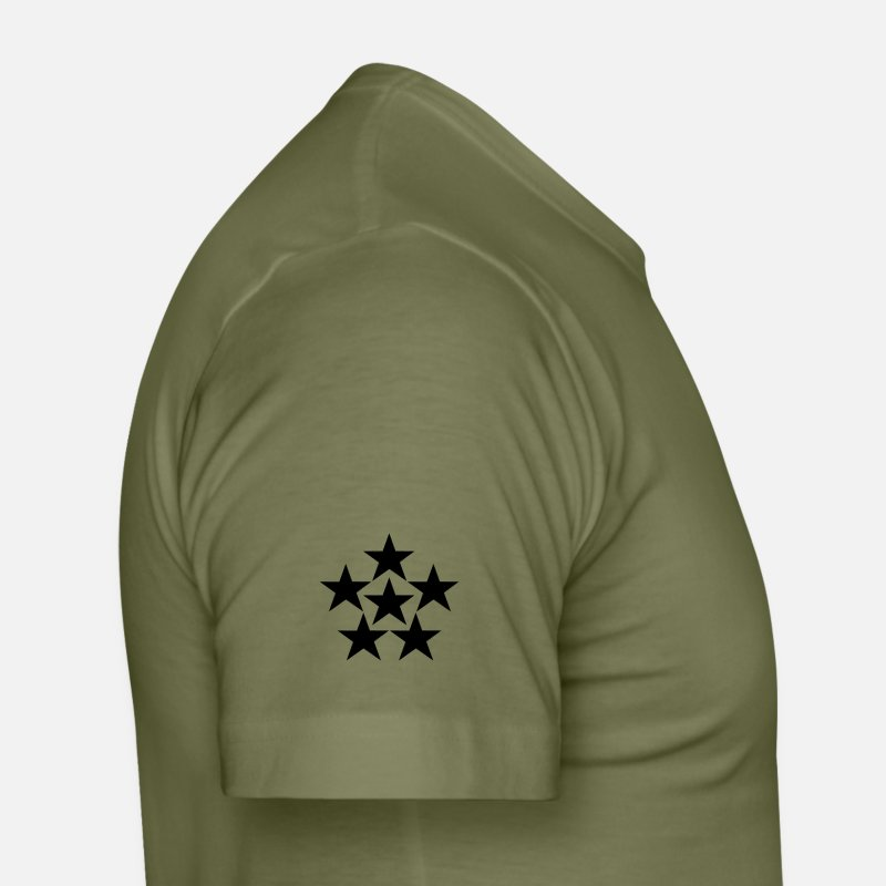 Army T-shirts - General of the Armies GAS US Army, Mision Militar - T-shirt moulant Homme vert kaki