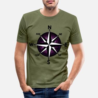 Nautical Ahoy Nautical Compass Windrose Nautical - Men's Slim Fit T-Shirt