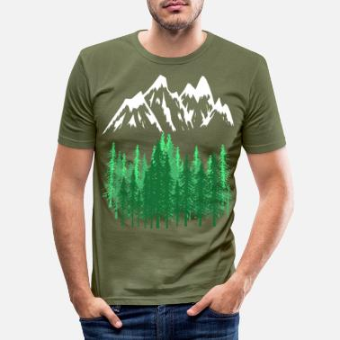 Mountaineering Mountains Mountains mountaineering - Men's Slim Fit T-Shirt
