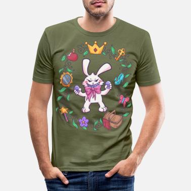 Flicka Easter Bunny Easter Egg Fairy Tale Gift - T-shirt slim fit herr