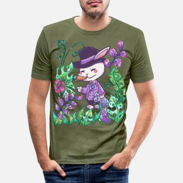 Gentleman Easter bunny gentleman jungle gift - Men's Slim Fit T-Shirt