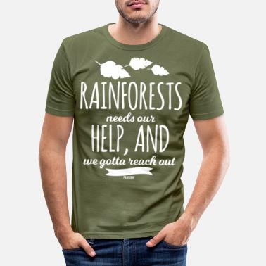 Rain Nature rainforest tropical gift - Men's Slim Fit T-Shirt