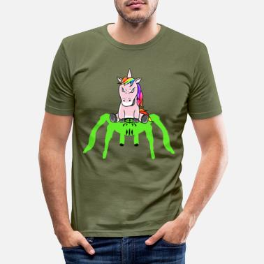 Buksetrold Horror Halloween Unicorn Tarantula Fantasy - Slim fit T-shirt mænd