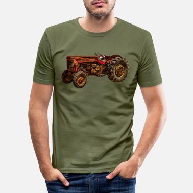 Manure Fork Tractor, farmer, farmer, farming, farmer, country, - Men's Slim Fit T-Shirt