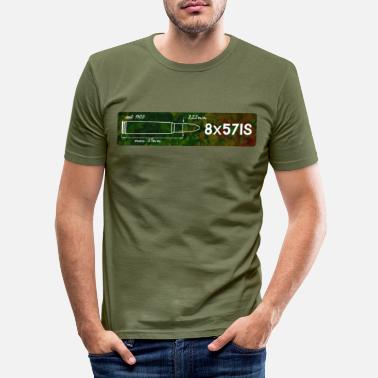 Caliber Caliber shirt 8x57 IS for hunters and shooters - Men's Slim Fit T-Shirt