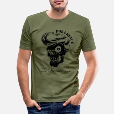 Jack Pokerface - Poker Winner - Männer Slim Fit T-Shirt