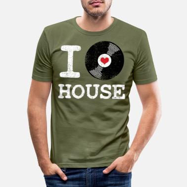 House House techno dansfestival - T-shirt slim fit herr