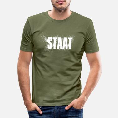 Staat Staat - Männer Slim Fit T-Shirt