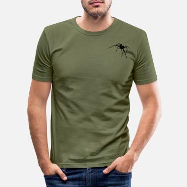 Spiders spider, spiders, web, spider web, gothic, emo, - Men's Slim Fit T-Shirt