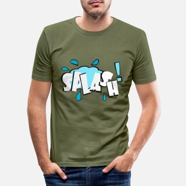 Splash Splash - Slim fit T-skjorte for menn