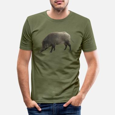 Wildzwijn wildzwijn - Mannen slim fit T-shirt