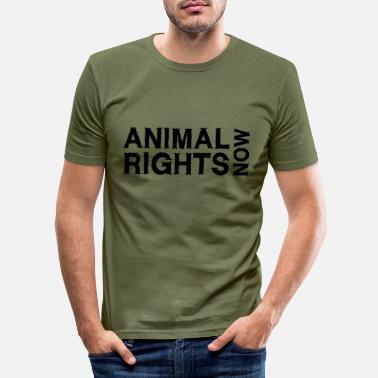 Animal Rights ANIMAL RIGHTS NOW_02 - Men's Slim Fit T-Shirt