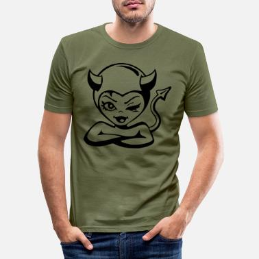 Devil Cute Devil devil - Men's Slim Fit T-Shirt